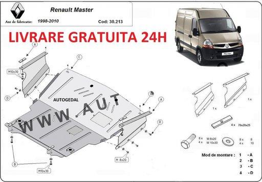 Scut motor metalic otel 2mm Renault Master 1998-2010 COD:30.213