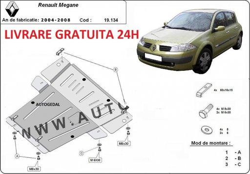 Scut motor metalic otel 2mm Renault Megane 2004-2008 COD:19.134