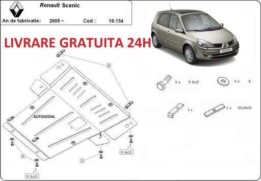 Scut motor metalic otel 2mm Renault Scenic 2004-2008 COD:19.134