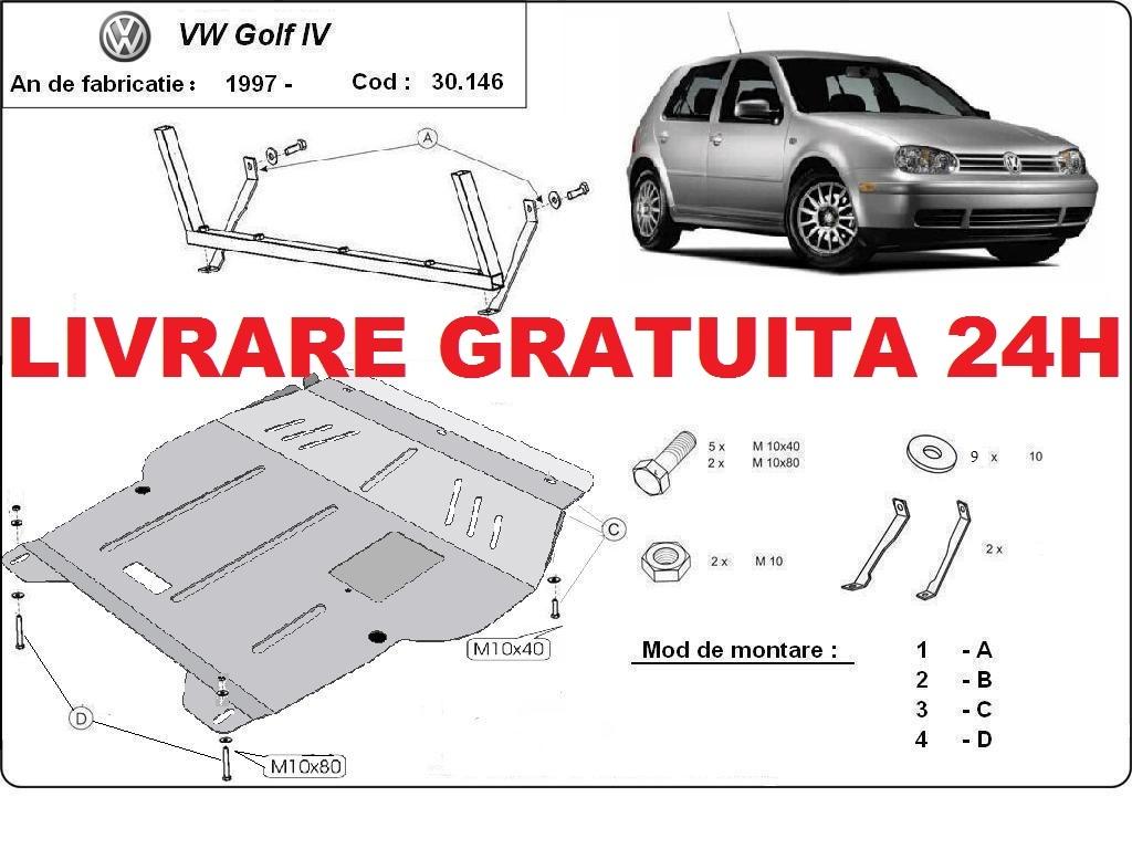 Scut motor metalic otel 2mm VW Golf 4 1997-2006 COD:30.146