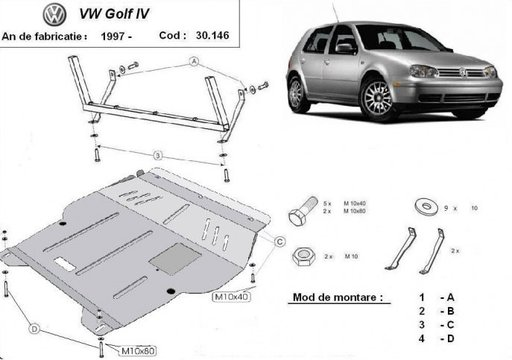 Scut motor metalic VW GOLF IV