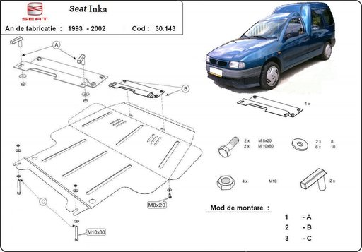 Scut motor Seat Inca (1993-2002)
