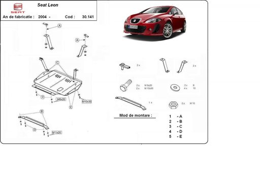 Scut motor Seat Leon II 1P1 2005-2012