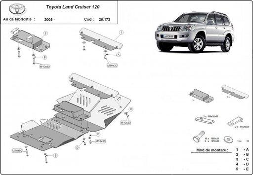 Scut motor Toyota Land Cruiser