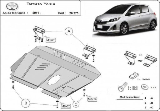 Scut motor Toyota Yaris