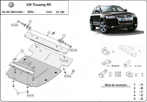 Scut motor Vw Touareg R5 / V6 2003-2012
