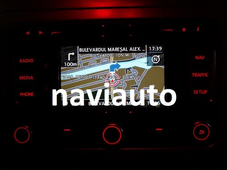 SD CARD original harta navigatie VOLKSWAGEN VW RNS 315 Skoda AMUNDSEN+ V8  V10 2018