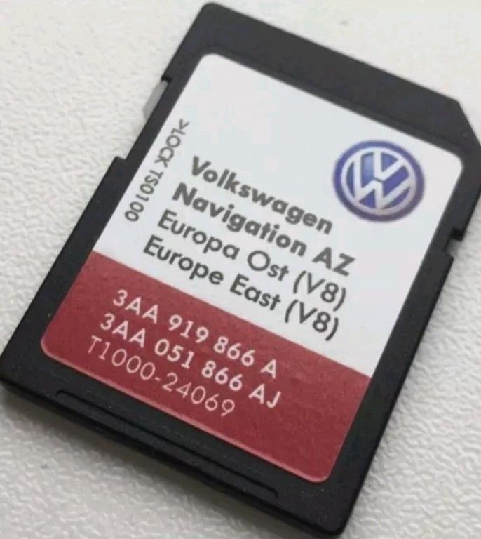 Sd card RNS 315 Instalare harti navigatie Romania Europa V10 2018 VW Skoda  Seat