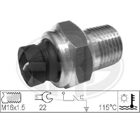 Senzor, temperatura lichid de racire FIAT FIORINO PICK UP ( 146 ) 01/1988 - 05/2001 - piesa NOUA - producator ERA 330156 - 304533