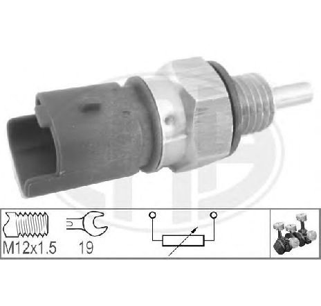 Senzor, temperatura lichid de racire PEUGEOT 307 CC ( 3B ) 10/2003 - 2018 - producator ERA 330624 - 305011 - Piesa Noua