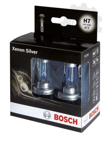 Set 2 becuri Bosch h7 xenon silver
