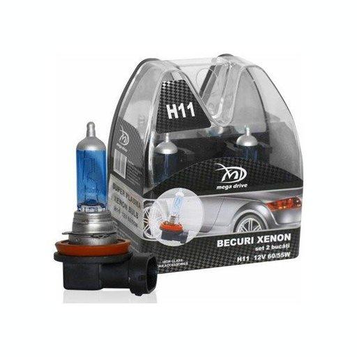 Set 2 Becuri H11 12V 55W - MegaDrive (imitatie Xen