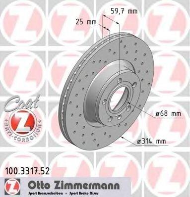 Set 2 discurt sport frana fata zimmermann pt audi a6(4f,c6)