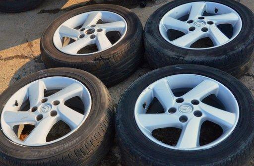 Set 4 jante 16 aluminiu CAUCUCURI 205X55X16 Mazda 3 / 5 / 6 IN STARE BUNA