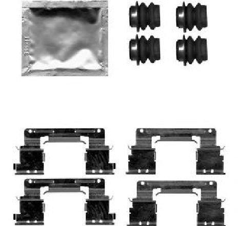 Set accesorii, placute frana LEXUS GS ( GRS19, UZS19, URS19, GWS19 ) 04/2005 - 11/2011 - producator DELPHI LX0619 - 305433 - Piesa Noua