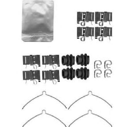 Set accesorii, placute frana LEXUS NX ( ZGZ1, AGZ1, AYZ1 ) 07/2014 - 2019 - piesa NOUA - producator DELPHI LX0609 - 312998