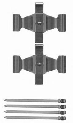 Set accesorii, placute frana MERCEDES-BENZ SL (R129), MERCEDES-BENZ S-CLASS limuzina (W220), MERCEDES-BENZ CL-CLASS cupe (C215) - TEXTAR 82504800