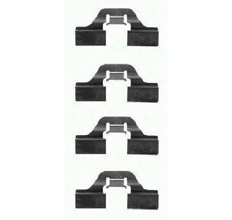 Set accesorii, placute frana PEUGEOT 208 CAROSERIE ( US ) 10/2012 - 2019 - producator TEXTAR 82037300 - 336228 - Piesa Noua