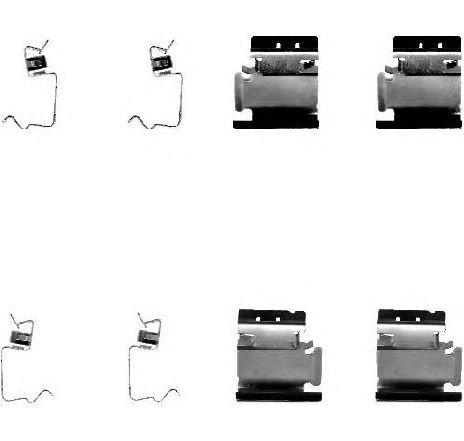 Set accesorii, placute frana RENAULT KANGOO EXPRESS ( FC0/1 ) 08/1997 - 2019 - producator TEXTAR 82054200 - 303520 - Piesa Noua