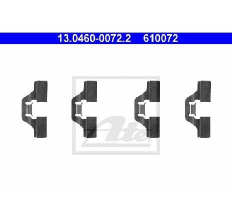 Set accesorii, placute frana SEAT CORDOBA ( 6K2 ) 06/1999 - 10/2002 - piesa NOUA - producator ATE 13.0460-0072.2 - 304327