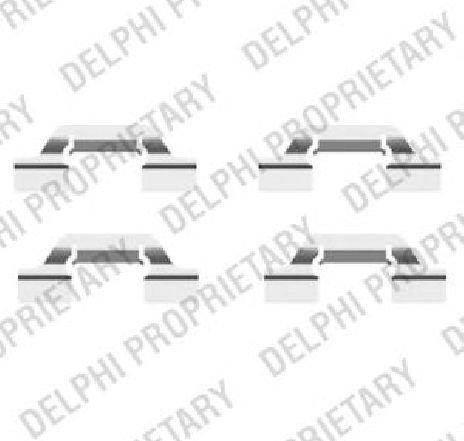 Set accesorii, placute frana SEAT LEON ( 1M1 ) 11/1999 - 06/2006 - piesa NOUA - producator DELPHI LX0438 - 304350