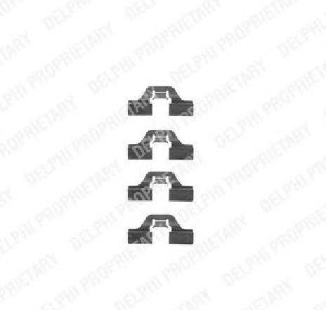 Set accesorii, placute frana SEAT LEON ( 1M1 ) 11/1999 - 06/2006 - piesa NOUA - producator DELPHI LX0307 - 304350