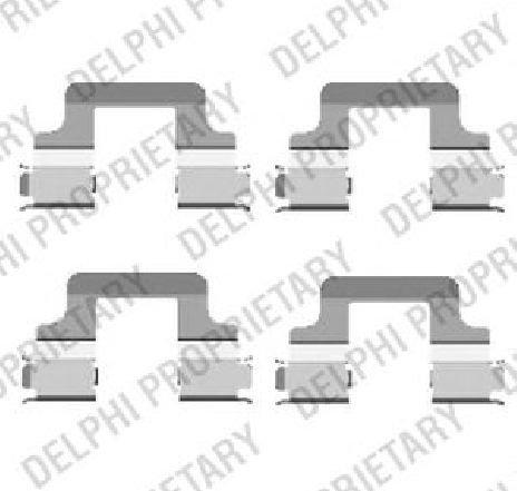 Set accesorii, placute frana SEAT LEON ( 5F1 ) 09/2012 - 2019 - producator DELPHI LX0437 - 310734 - Piesa Noua