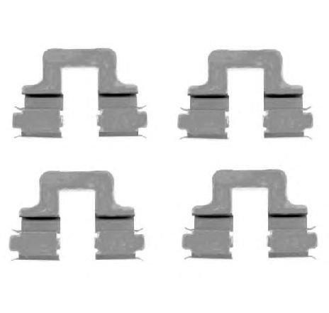 Set accesorii, placute frana SEAT TOLEDO III ( 5P2 ) 04/2004 - 05/2009 - piesa NOUA - producator TEXTAR 82509000 - 305378