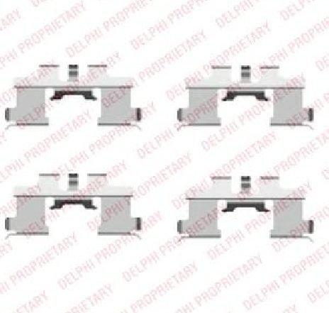 Set accesorii, placute frana SUZUKI CARRY CAROSERIE ( FD ) 02/1999 - 2019 - piesa NOUA - producator DELPHI LX0444 - 304582