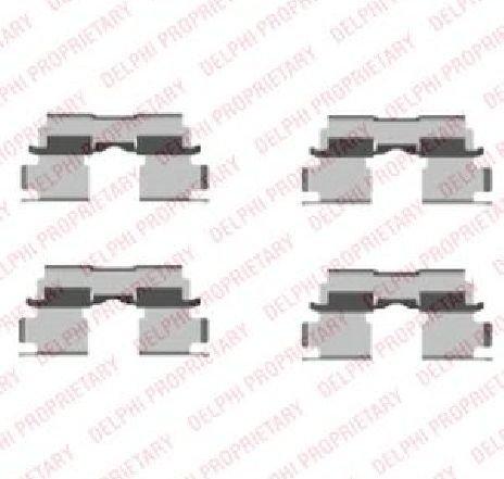 Set accesorii, placute frana SUZUKI IGNIS ( FH ) 10/2000 - 12/2005 - piesa NOUA - producator DELPHI LX0451 - 304732