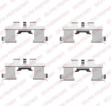 Set accesorii, placute frana SUZUKI IGNIS ( FH ) 10/2000 - 12/2005 - piesa NOUA - producator DELPHI LX0444 - 304732