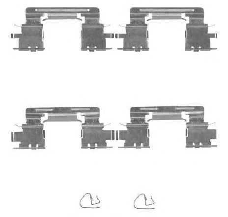 Set accesorii, placute frana TOYOTA CAMRY ( MCV3, ACV3, XV3 ) 08/2001 - 11/2006 - producator TEXTAR 82515100 - 304846 - Piesa Noua