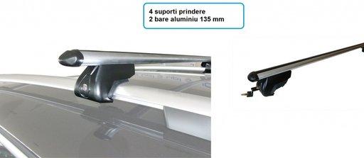 SET BARE TRANSVERSALE ALUMINIU (135mm) cu 4 suport