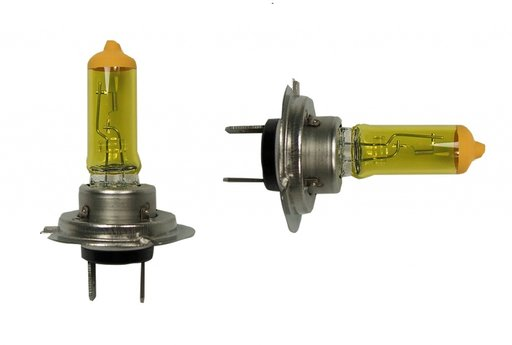 Set Becuri halogen galbene H3 55w 12v ceata / ploaie COD (33-2)