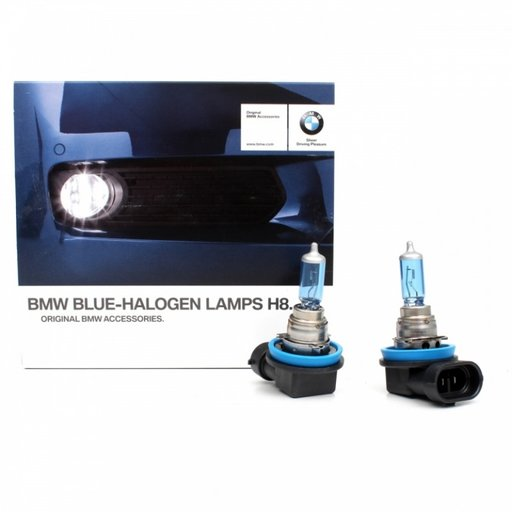 Set Becuri Oe Bmw Blue Halogen Lamps H8 2 Buc 63112359505