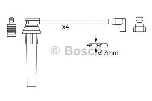 Set cablaj aprindere CHRYSLER NEON (05/94-02/00) 2.0 16V - OEM-STARLINE: ZK 1022 - Cod intern: W02594315