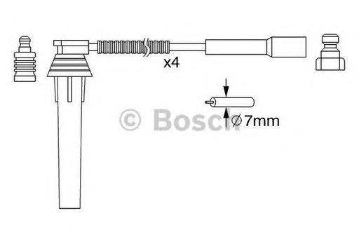 Set cablaj aprindere CHRYSLER PT CRUISER (06/00-12/10) 2.0 - OEM-STARLINE: ZK 1032 - Cod intern: W02594262