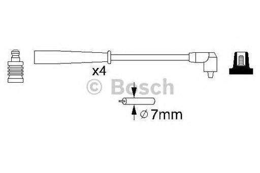 Set cablaj aprindere PEUGEOT 306 (04/93-08/01) 2.0 XSi - OEM-STARLINE: ZK 4894 - Cod intern: W02594194