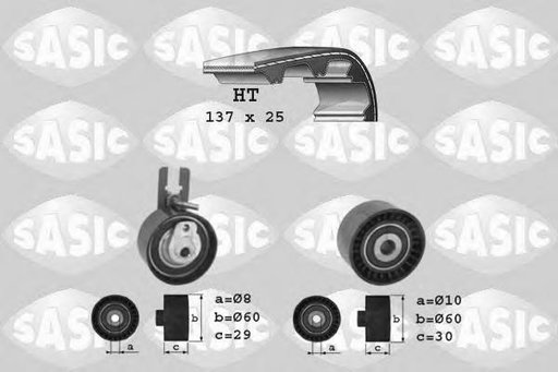 Set curea de distributie CITROËN BERLINGO I caroserie (M_), CITROËN BERLINGO (MF), PEUGEOT RANCH caroserie (5) - SASIC 1750019