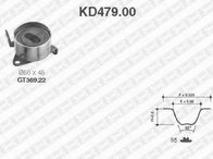 Set curea de distributie DAIHATSU SPORTRAK (F300), DAIHATSU CHARADE Mk IV (G200, G202), DAIHATSU APPLAUSE  (A101, A111) - SNR KD479.00