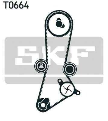 Set curea de distributie HYUNDAI TRAJET (FO) SKF VKMA 95660