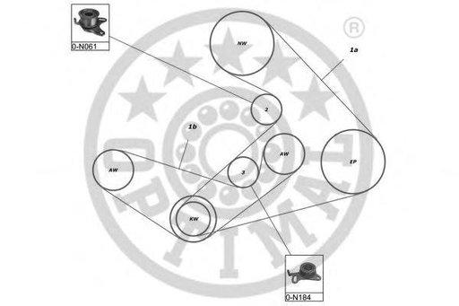 Set curea de distributie MITSUBISHI DELICA bus (P0_W, P1_W, P2_W), MITSUBISHI SHOGUN II (V3_W, V2_W, V4_W), MITSUBISHI SHOGUN III autoturism de teren,