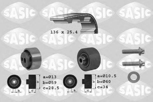 Set curea de distributie PEUGEOT 106  (1A, 1C), ROVER 100 / METRO (XP), CITROËN AX (ZA-_) - SASIC 1750005