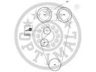 Set curea de distributie ROVER 400 Tourer (XW), ROVER 200 (RF), LOTUS ELISE - OPTIMAL SK-1507