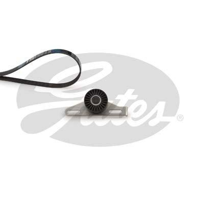 Set curea transmisie, producator Gates Contine(curea + rola) pentru vehicule fara aer conditionat K015PK1113