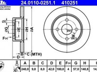 Set discuri frana spate 4 prezoane 240 mm producator ATE