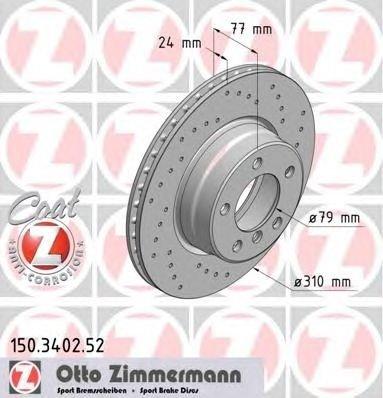 Set discuri sport fata zimmermann R310 pt bmw 5(e60),6(e63),6(e64)