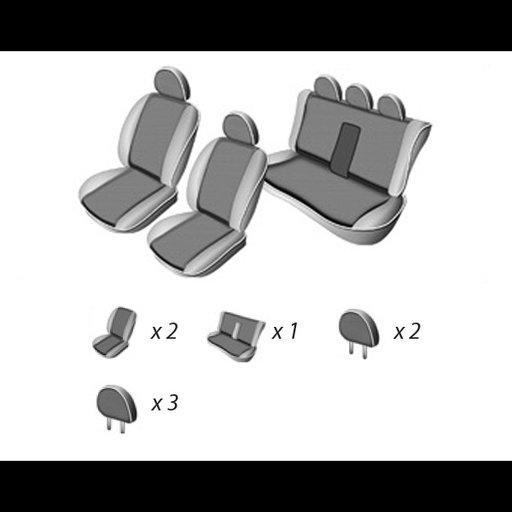 Set huse scaun dedicate Skoda Fabia 5j hatchback 2007-> bancheta fractionata