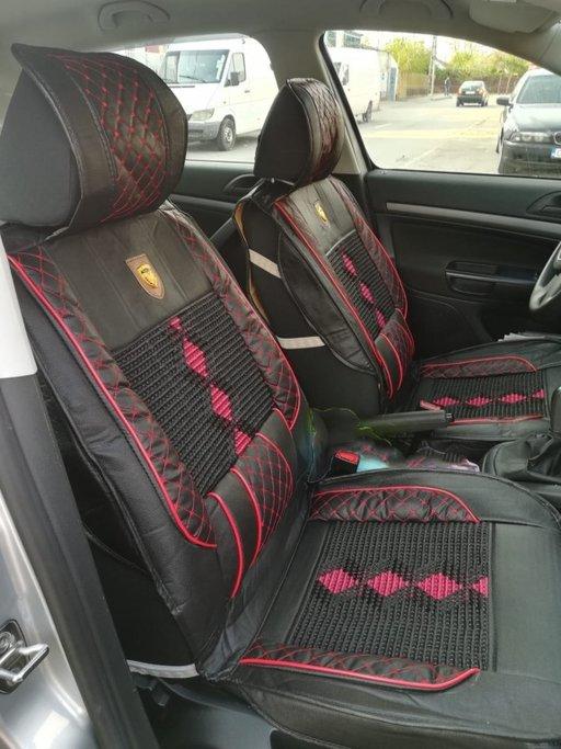 Set huse scaune auto pentru fata, piele ecologica