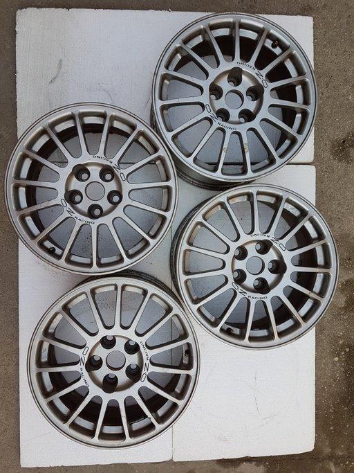 Set Jante aliaj 5/114/R17, ET38 OZ Racing originale pentru Mitsubishi EVO
